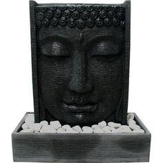 Buddha Head Pillar & Reservoir - Pillars & Columns - Water Features, Fountains & Falls - Stone and Water World