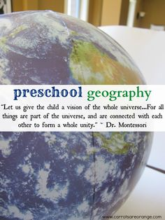 {Land Forms} An easy & inexpensive introduction to geography for preschools