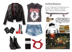 """""""~ The Who - Won't Get Fooled Again ~"""" by isa-wonder-woman ❤ liked on Polyvore featuring H&M, Vintage, Dr. Martens, Whistles, Butter London, NARS Cosmetics, Elizabeth Arden and KING"""