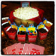 Popcorn bar with yummy mix-ins