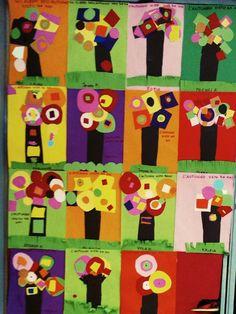 KANDINSKY - lamaestrafrancy Kandinsky, Kadinsky For Kids, Tree Crafts, Holidays And Events, Art Tutorials, Appreciation, Art Projects, Arts And Crafts, Collage