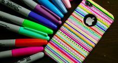 DIY I Phone Aztec case. Cute idea