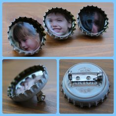 Photo Beer Bottle Top Badges