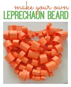 st patrick's day- diy leprechaun beard kids craft Joshua and I loved doing this together! Didn't take much time either. I also made him a leprechaun hat out of construction paper. St Patricks Day Crafts For Kids, St Patrick's Day Crafts, Cute Crafts, Crafts To Make, Holiday Crafts, Kid Crafts, Holiday Ideas, Paper Crafts, Leprechaun