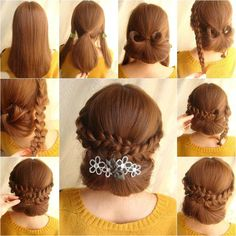 How to DIY Elegant Braids and Chignon Hairstyle
