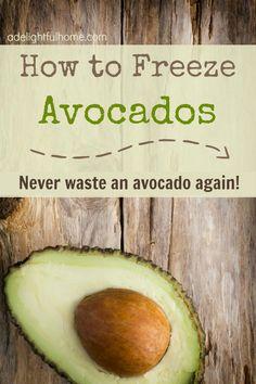 How to Freeze AvocadosRipe avocados Lemon juice –  1 teaspoon lemon juice per avocado Blender or food processor Ice cube trays or silicone molds Ziplock bag or freezer-safe storage container