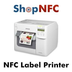 Printer with NFC encoder, for printing and simultaneous encoding of NFC labels. Software, Reader and 500 NFC stickers included.