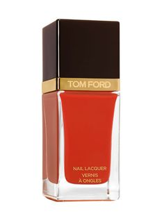 "Tom Ford Nail Lacquer in Ginger Fire:  ""This is your go-to summer red,"" manicurist Elle says."