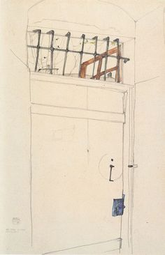 Egon Schiele(Austrian, 1890-1918), Tür in das Offene (Door to Freedom)   21 April, 1912