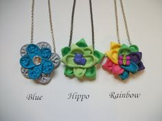 Little Girl's Zipper Necklaces by SiennaSews on Etsy $8 Free Shipping! 10% off with coupon code JAN2015
