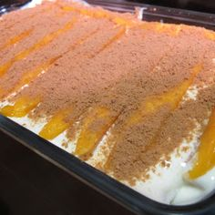 Filipino Foods And Recipes - Pinoy foods at its finest.: Mango Float Recipe By Jackie Go Filipino Dishes, Filipino Desserts, Asian Desserts, Filipino Recipes, Just Desserts, Delicious Desserts, Yummy Food, Filipino Food, Pinoy Recipe