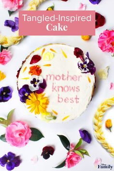 This Mother's Day Cake Proves Mother Knows Best Disney Diy, Disney Food, Disney Recipes, Disney Tangled, Tangled Birthday Party, 5th Birthday, Birthday Ideas, Disney Inspired Food, Piping Frosting