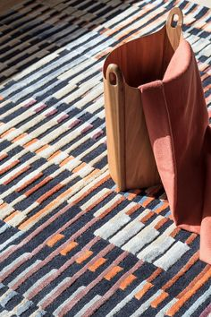 FRONT is a handtufted rug in NZ wool and bamboo viscose. The design is inspired by the optical experiments of Israeli artist Yaacov Agam (b. and American artist Ricard Anuszkiewicz (b. Yaacov Agam, American Artists, Bauhaus, New Zealand, Rugs, Pattern, Inspiration, Bamboo, Wool