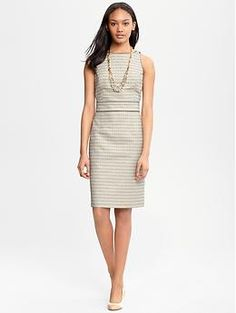 Contrast-trim sheath | Banana Republic. WANT. No wonder it's sold out in all but one size.