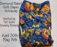 Borrowed Planet Cloth Diaper Giveaway