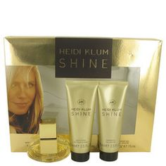 Shine by Heidi Klum Gift Set -- 1 oz Eau De Toilette Spray + 2.5 oz Body Lotion + 2.5 oz Shower Gel (Women)