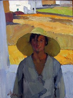 The Straw Hat, 1925 by Nikolaos Lytras, National Art Gallery, Athens Painting People, Figure Painting, Painting & Drawing, Greek Paintings, Figurative Kunst, Art Antique, Art Corner, National Art, National Gallery