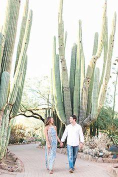 A boho chic desert botanical garden engagement in Arizona // photo by Rachel Solomon Photography: http://rachel-solomon.com || see more on http://www.artfullywed.com