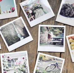 Homemade Polaroid Coasters- This would be a terrific gift idea and look simple to do..