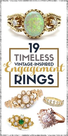 19 Stunning Vintage-Inspired Engagement Rings That'll Make You Swoon