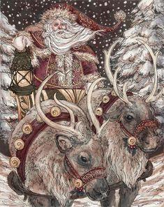 Lovely santa claus christmas artworks illustrations