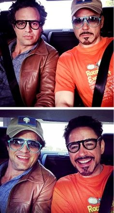 Mark and Robert's Adorable Glasses Swap. A Science Bros Memorial Day Weekend Adventure