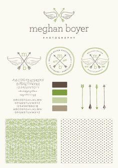 Meghan Boyer Brand Elements | Custom Logo, Watermark, Illustrations, Pattern