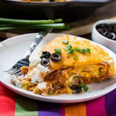 One Pot Chicken Tortilla Pie via @FMSCLiving