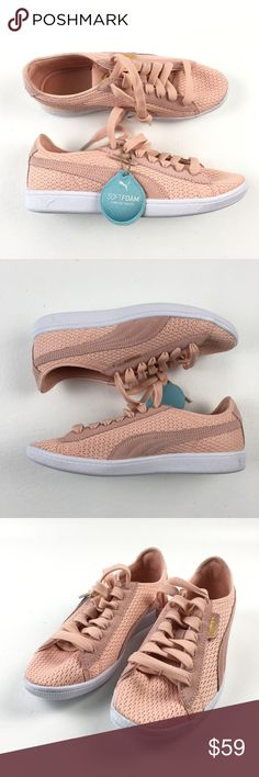626bc2864c4c Puma Classic Causal Shoes DR01185 7 NWOT Puma Womens Pink Mesh Suede Laces  Classic Causal