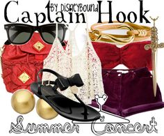 summer concert | Disney Bound Captain Hook