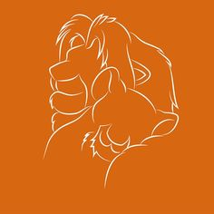 Disney Illustration on Behance: The Lion King Arte Disney, Disney Art, Simba Y Nala, Disney Silhouette Art, Disney Lines, Disney Illustration, Le Roi Lion, Disney Images, Disney Lion King