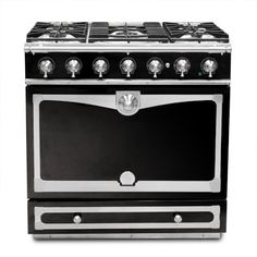 La Cornue Albertine Gloss Black Stove #WilliamsSonoma