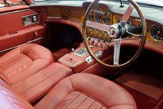 Facel Vega HK500 red interior car wood dashboard dash driver seat