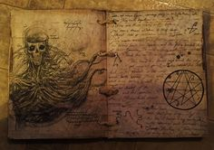 Static: - Spell Book, Book of Shadows, Grimoire, Necronomicon, Book of the Dead Necronomicon Lovecraft, Halloween Forum, Book Of The Dead, The Pirate King, Commonplace Book, Call Of Cthulhu, Arte Horror, Fantasy Rpg, Book Of Shadows
