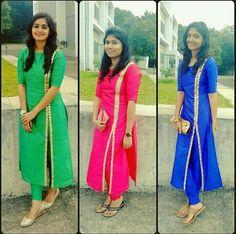 Sleeves Designs For Dresses, Dress Neck Designs, Kurti Neck Designs, Kurta Designs Women, Kurti Designs Party Wear, Blouse Designs, Salwar Pattern, Kurta Patterns, Dress Patterns