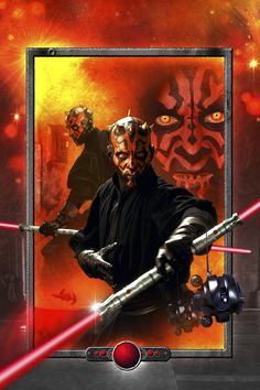 Star Wars - Darth Maul Lightsaber Red - Wall Mural & Photo Wallpaper - Photowall