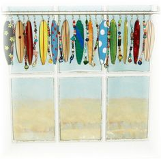 stained glass surfboard valance