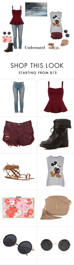 """Once I was 7 years old"" by theater-potter-dance-warriors ❤ liked on Polyvore featuring Yves Saint Laurent, River Island, One Teaspoon, Charlotte Russe, Valentino, Topshop and New Look"