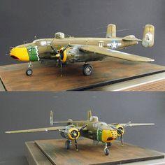 B-25J Gunship 1/72 Hasegawa. Modeler Maxim Volkov #scalemodel #plastimodelismo #miniatura #miniature #plasticmodel #plamodel #plastimodelo #plastickits #usinadoskits #udk #hasegawa