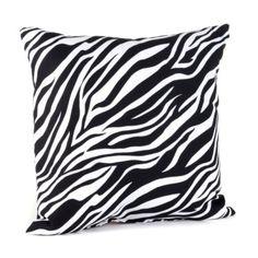 Zebra Print Black & White Pillow   Kirkland's