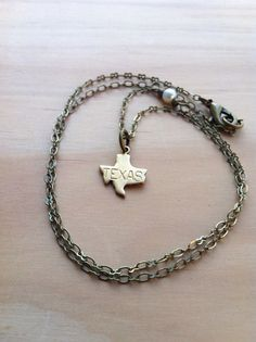 Little Shining Texas Necklace #State #cowgirl
