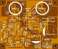 Sharing PCB Power Amplifier, Tone Control Speaker Protector, etc. You can see all about PCB Design of all around the world here: Electronic Circuit Projects, Electronic Kits, Valve Amplifier, Audio Amplifier, Audiophile, Circuit Board Design, Electrical Circuit Diagram, Speaker Box Design, Layout Design