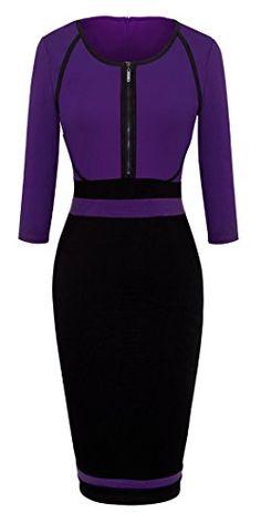 Homeyee® Women's Vintage Colorblock Career Bodycon Dress B235 (S, Purple) HOMEYEE http://www.amazon.com/dp/B01D5V73FU/ref=cm_sw_r_pi_dp_c3o7wb0JJ1PQW