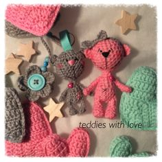 Teddies with love Crocheted Toys, Crochet Teddy, Dolls, Christmas Ornaments, Holiday Decor, Inspiration, Amigurumi, Crocheted Animals, Baby Dolls