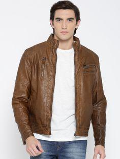 Winter Wear For Men, Leather Men, Leather Jacket, Biker, Bomber Jacket, Brown, Jackets, How To Wear, Stuff To Buy