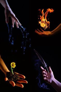 fire water earth and air. When I saw this the first thing that jumped to mind: avatar the last airbender Foto Fantasy, Fantasy Magic, Elemental Powers, Elemental Magic, Writing Inspiration, Character Inspiration, Magick, Witchcraft, Wiccan Spells