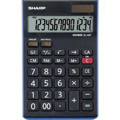 Sharp Elsi Mate EL-145T-BL asztali számológép 14 számjegyes - Kék - Számológépek