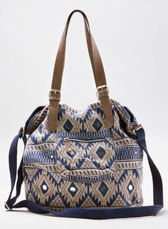 d0c36543a6fe Indigo AEO Jacquard Tote - wow want this one