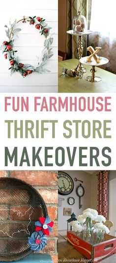 Well we are back with yet another Collection of Fun Farmhouse Thrift Store Makeovers. Our fabulous Blogger Friends keep coming up with amazing creations…so we will keep bringing to you and then you can check them all out at the different blogs. We have some awesome makeovers like a Quilt Hoop that is now a …
