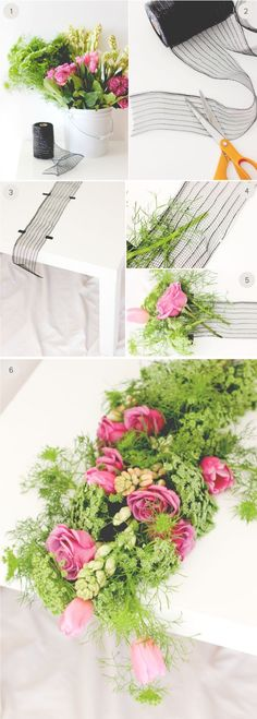 Diy Crafts Ideas : DIY Wedding: fresh floral table runner step-by-step instructions on minted.com